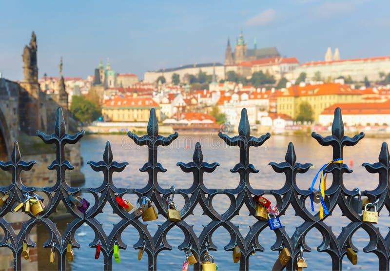 Prague Castle and Little Quarter, Czech Republic stock image