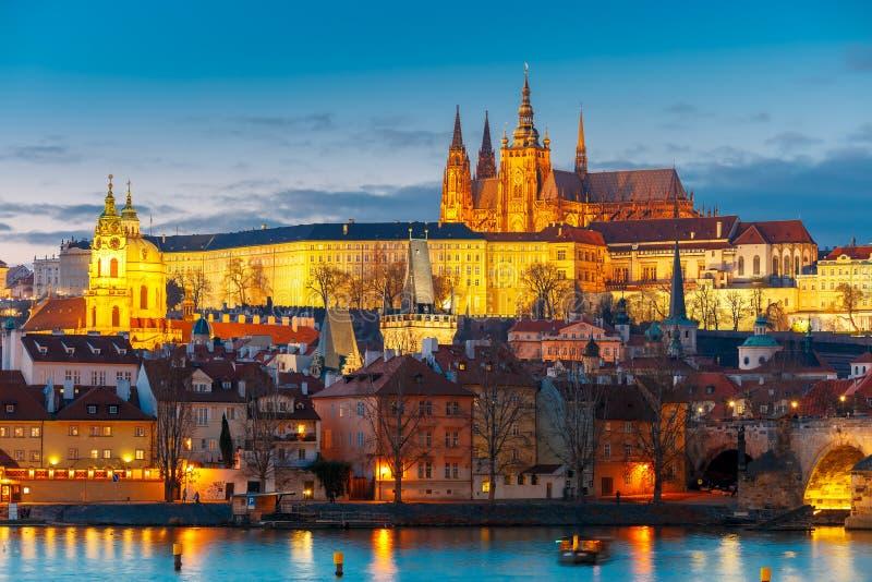 Prague Castle and Mala Strana, Czech Republic stock image