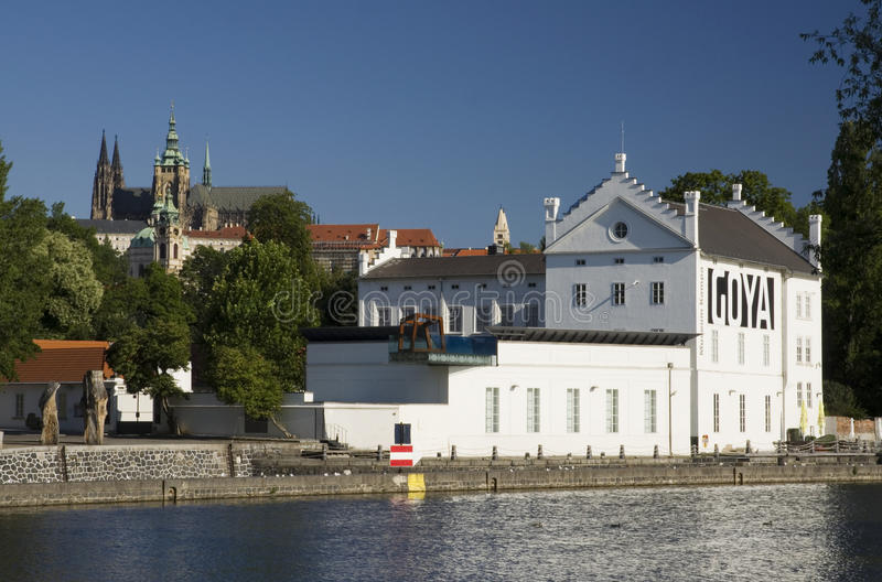 Prague Castle and Museum Kampa stock images
