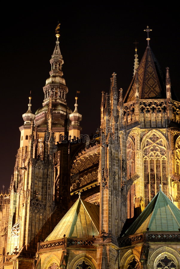 Download Prague Castle At Night Stock Image - Image: 8927791
