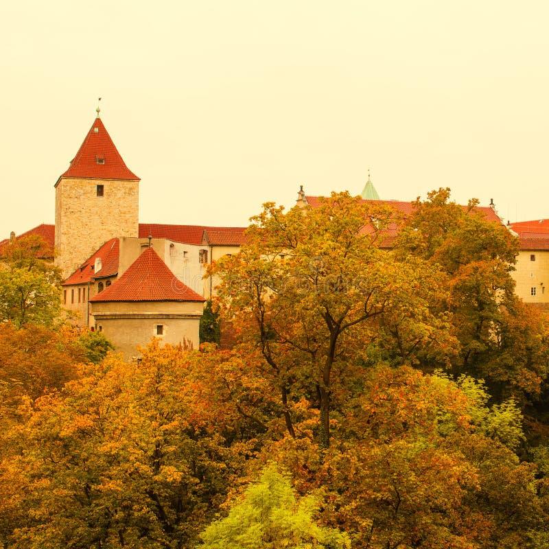 Prague Castle, old city stock images
