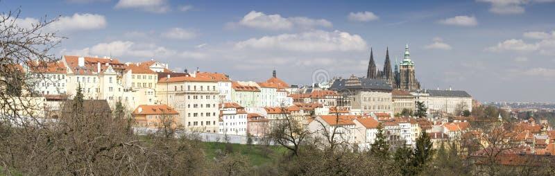 Prague Castle Panorama. Panoramic view of Prague (historic center stock photos