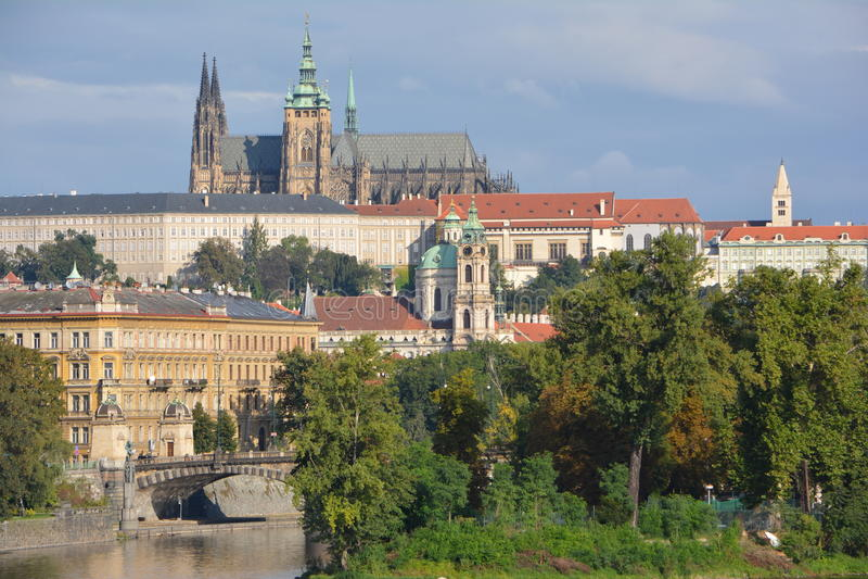 Prague Castle (Pražský hrad) in Prague stock images