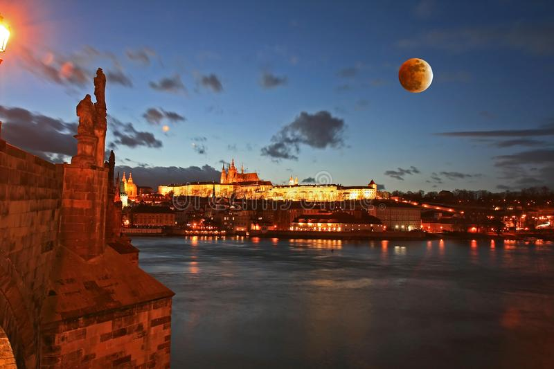 The Prague Castle in Prague royalty free stock photo
