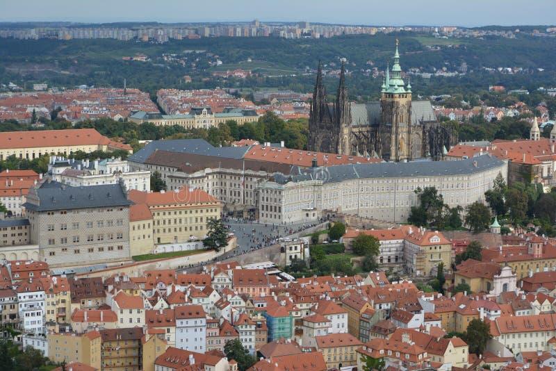 Prague Castle (Prazsky hrad) and view of Prague royalty free stock images