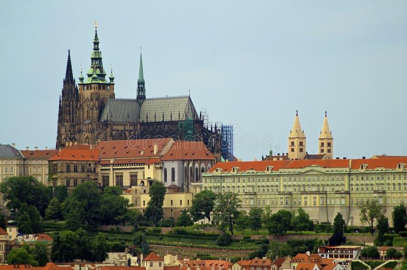 Prague Castle & St.Vitus cathedral stock photo