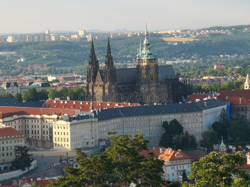 Prague castle view stock photo