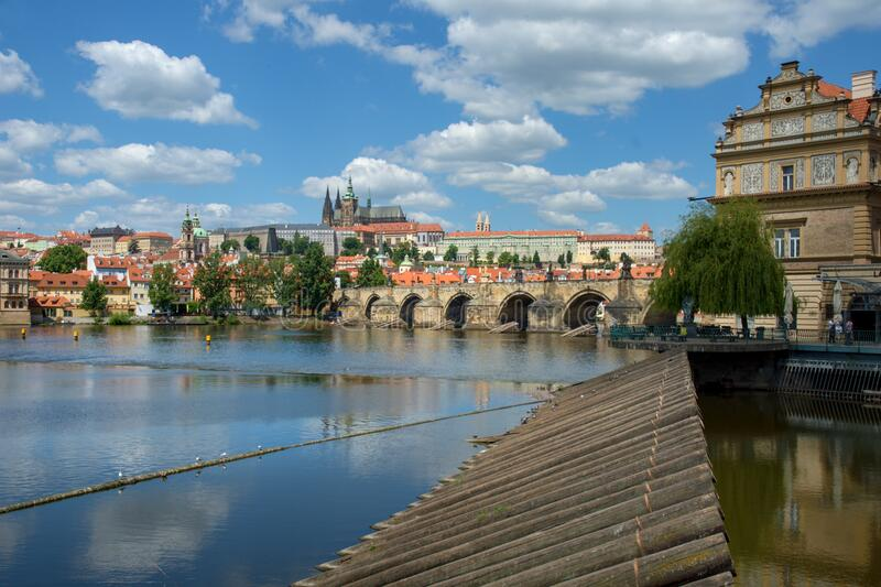 Prague castle stock photography