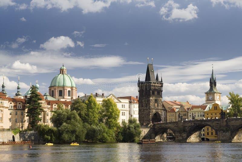 Prague Center. Prague - Charles Bridge and neighbourhood stock photos
