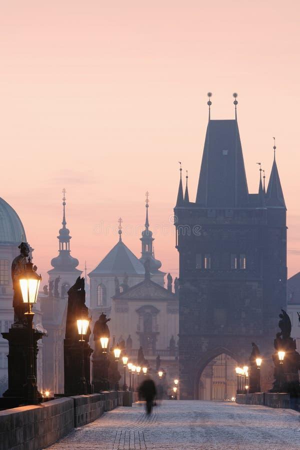 Prague charles bridge royalty free stock photos
