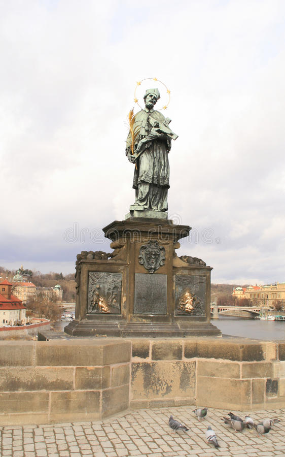 Prague. Charles Bridge Stock Images