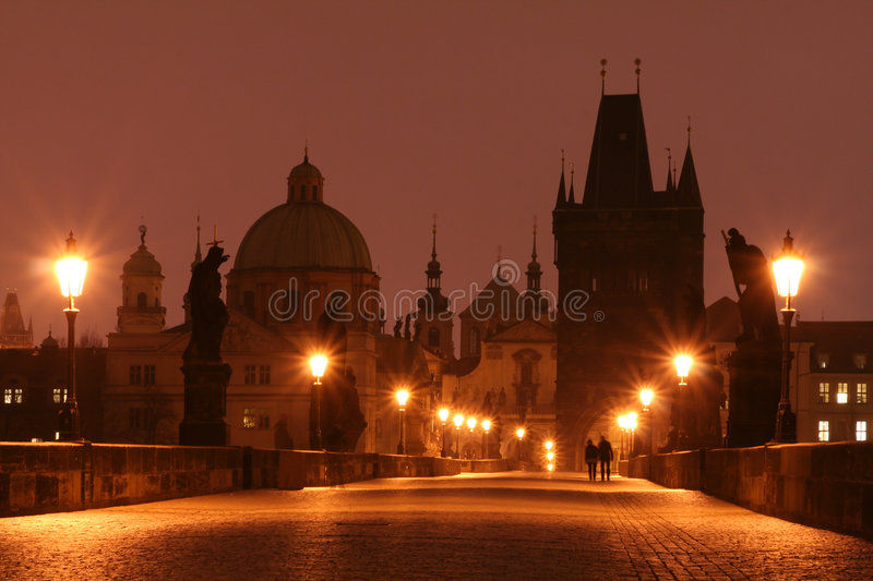 Prague - Charles Bridge. Charles Bridge in Prague - Early Morning stock photography