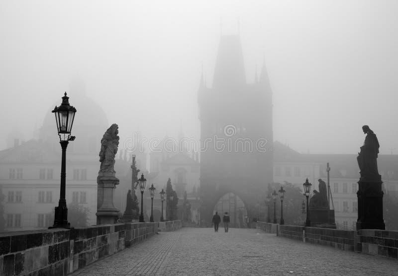 Prague - Charles bridge in the morning royalty free stock image