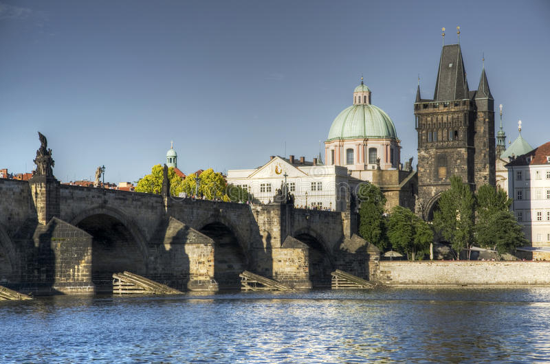 Prague - Charles bridge royalty free stock photo