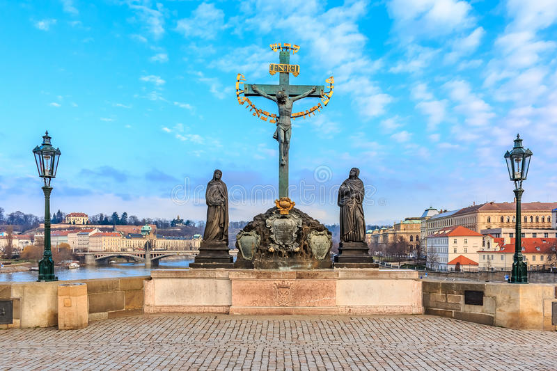 Prague Charles Bridge royalty free stock images