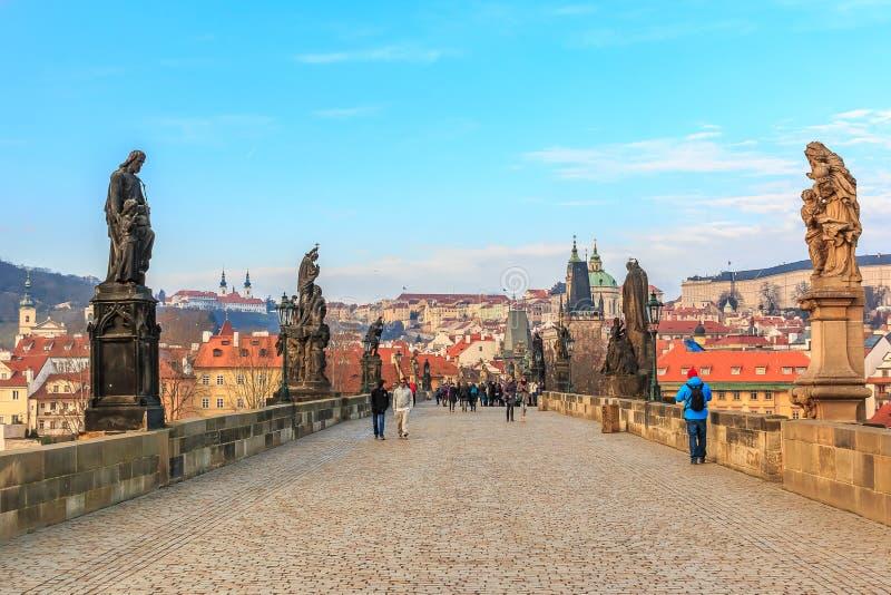 Prague Charles Bridge stock photo