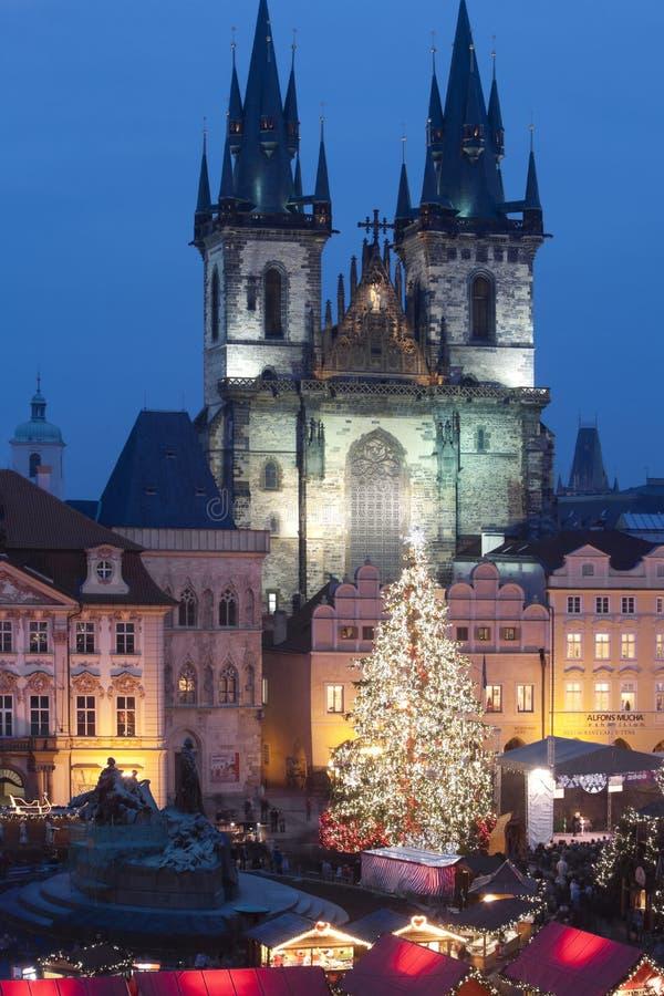 Prague christmas market royalty free stock photo