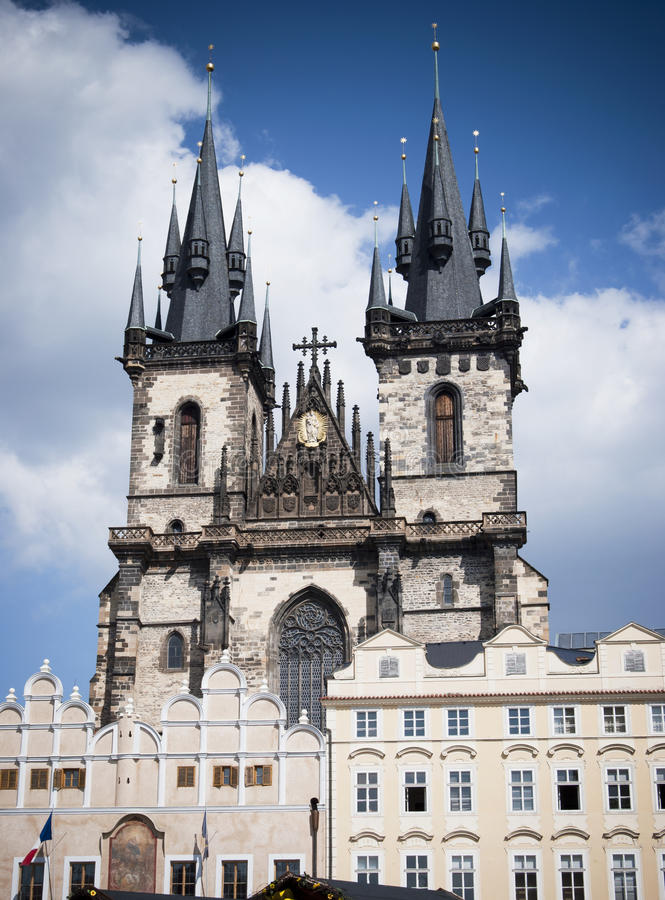 Prague. Church of Our Lady before Týn royalty free stock images