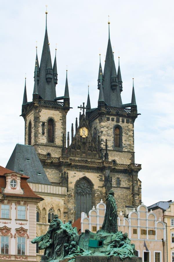 Prague church stock images