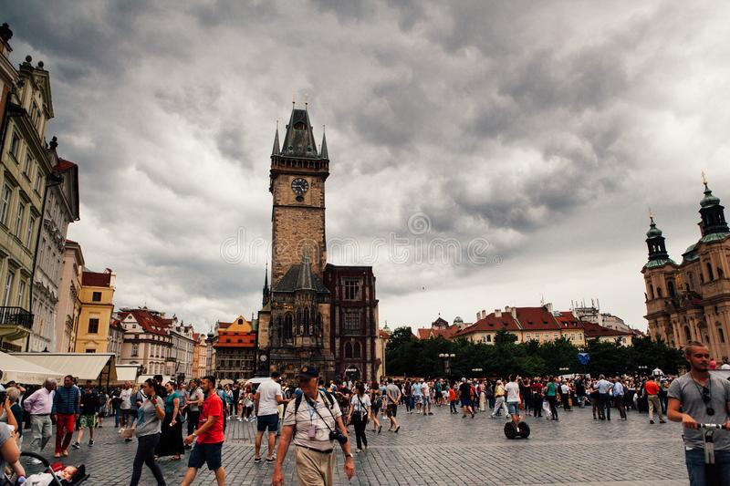 Prague city center royalty free stock photos