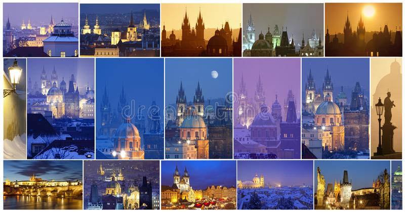 Prague - City of One Hundred Spires Composite. Czech Republic, Prague - City of One Hundred Spires Composite stock photography