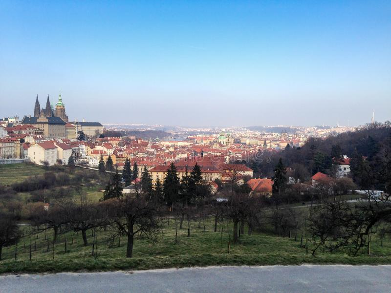 Prague City Wiev from Petrin Hill royalty free stock photography