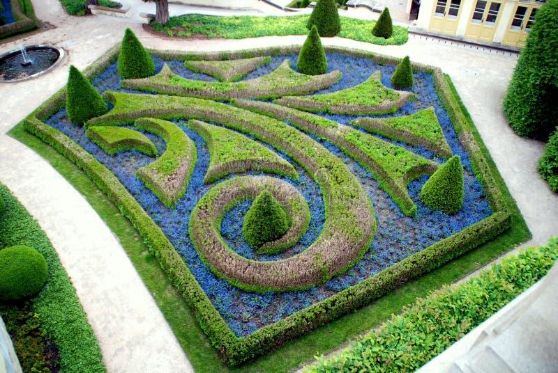 Prague,Czech Rep: Vrbtovska Knot Garden stock photography