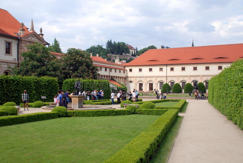 Prague, Czech Rep: Wallenstein Palace Gardens stock photography