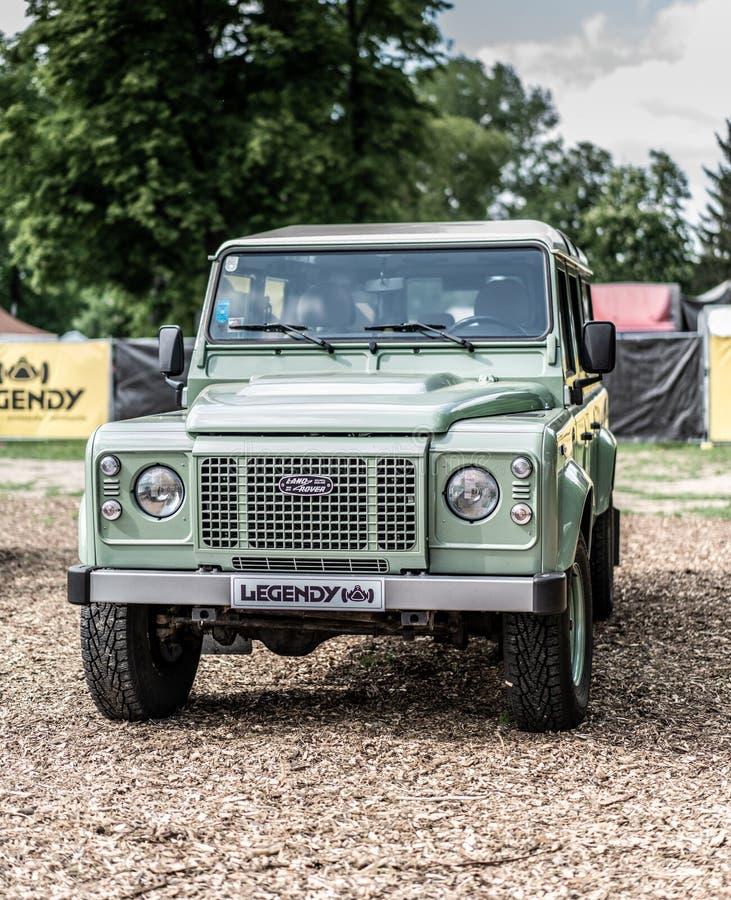 Free Prague, Czech Republic - 16/5/2019 Land Rover Defender Stock Photography - 149103142