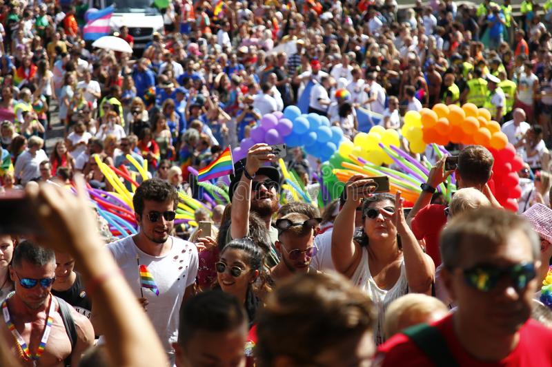 Prague / Czech Republic -August 11. 2018 : LGBT Pride March royalty free stock photography