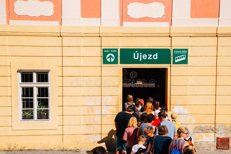 Ujezd funicular station to petrin hill in Prague, Czech Republic royalty free stock images