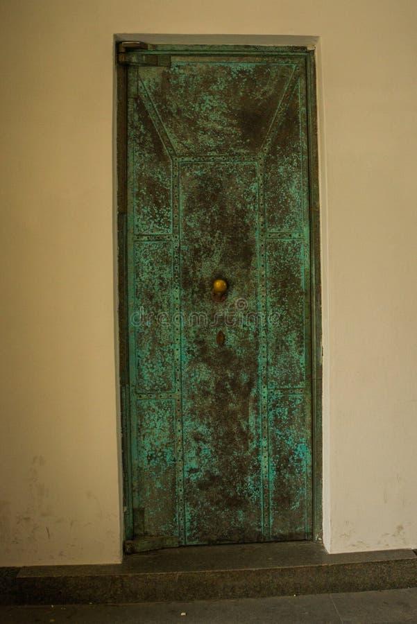PRAGUE, CZECH REPUBLIC: Beautiful door. Prague Castle - an ancient symbol of the Czech State stock images