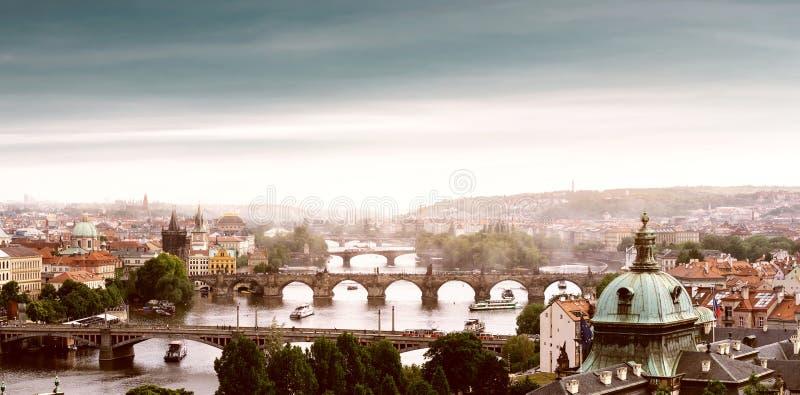 Prague, Czech Republic. Bridges in Prague, Czech Republic stock photo