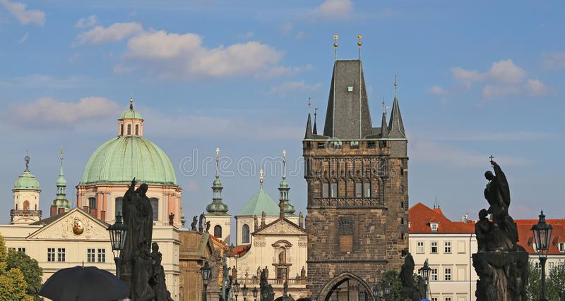 Prague Charles bridge one of the most important monuments of the. Prague in the Czech Republic Charles bridge one of the most important monuments of the European stock image