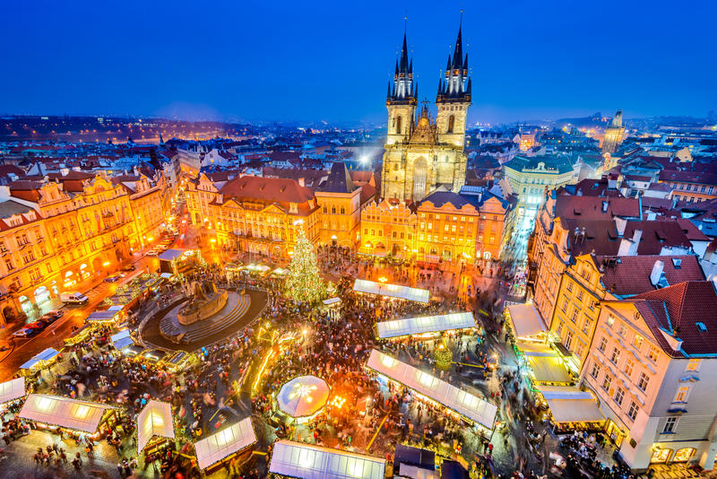 Prague, Czech Republic - Christmas Market stock images