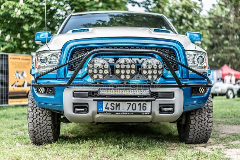 Prague, Czech republic - 16/5/2019 Dodge Ram stock images