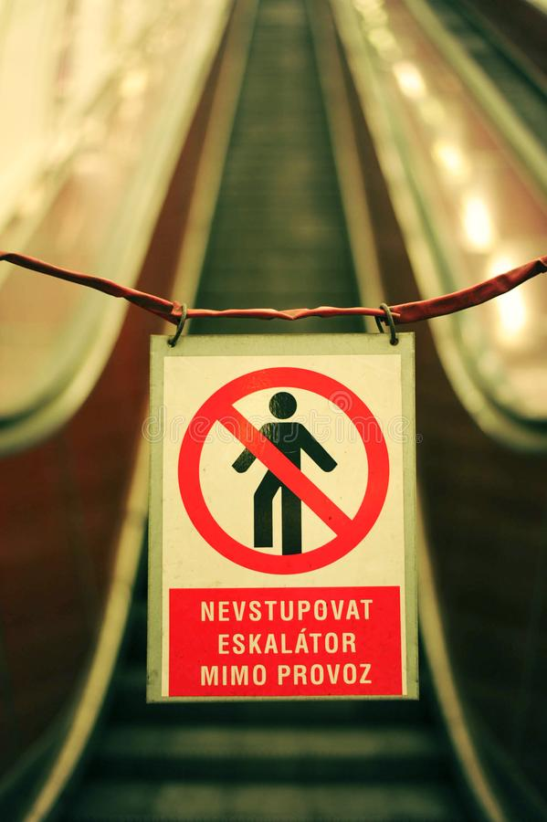 Prague Czech Republic 25 February 2018 The Signs Prohibiting