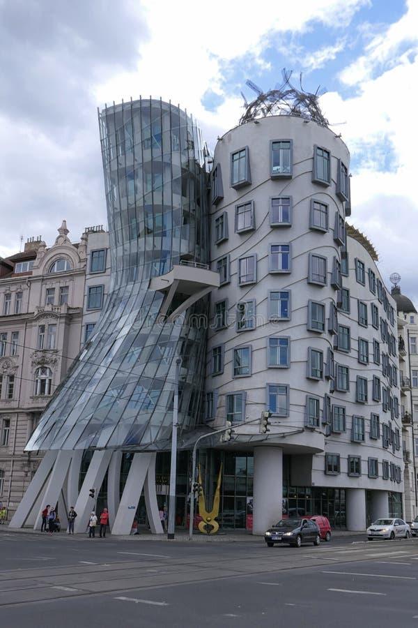 Prague, Czech Republic Fred and Ginger Dancing House Building by Frank Gehry. Prague, Czech Republic - June 25, 2017: Dancing House aka Fred and Ginger, which stock photo