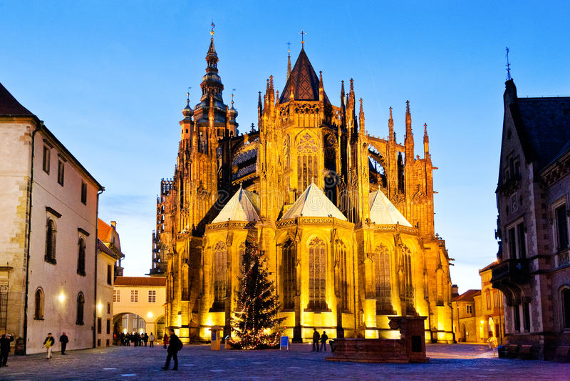 PRAGUE, CZECH REPUBLIC-JAN 06, 2013: Prague Christmas market stock image