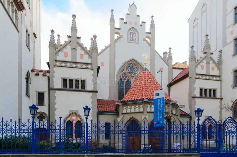 Maisel Synagogue, Jewish Quarter Josefov, Prague, Czech Republic royalty free stock images