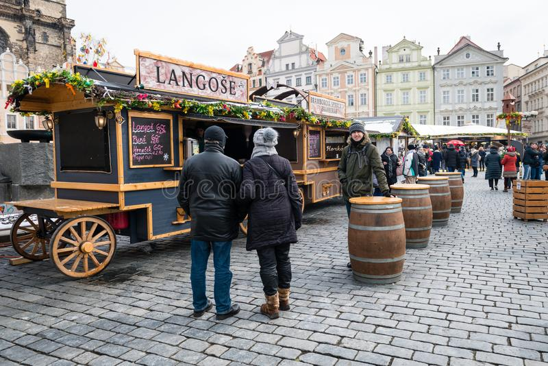 Prague Easter Markets on Old Town Square stock photos