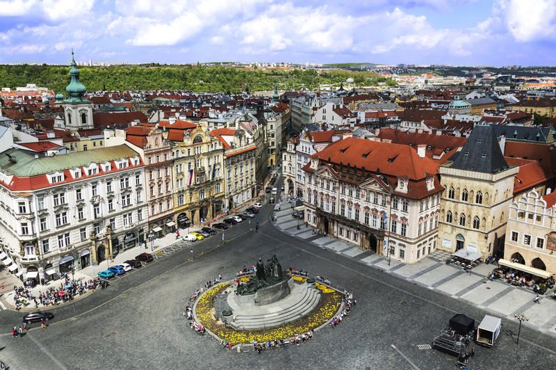 PRAGUE, CZECH REPUBLIC - MAY 2015: Prague Old Town Square royalty free stock image