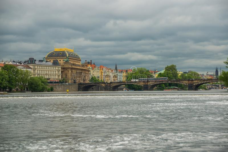 Prague, Czech Republic: The National Theatre belongs to the most important Czech cultural institutions with a rich artistic. Tradition which was created and stock photography