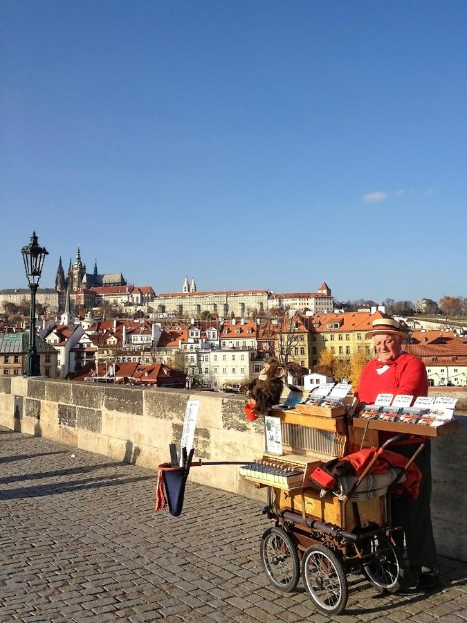 Prague, Czech Republic - NOVEMBER 13, 2012 : View from Charles B royalty free stock images
