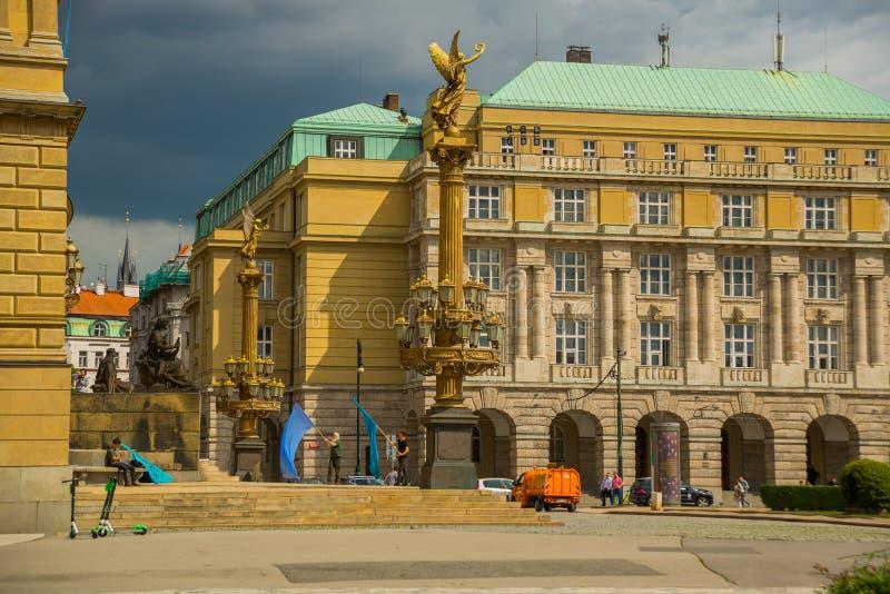 Prague, Czech Republic: View of the Rudolphinum concert hall in Prague stock photo