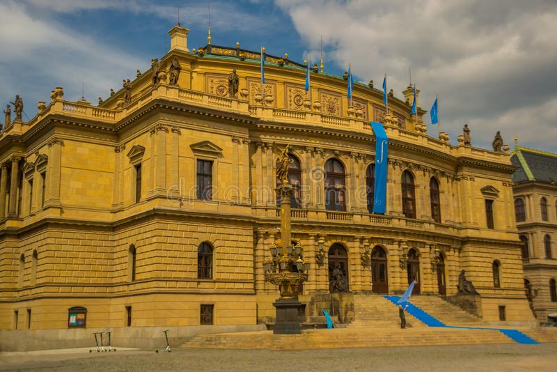 Prague, Czech Republic: View of the Rudolphinum concert hall in Prague royalty free stock image