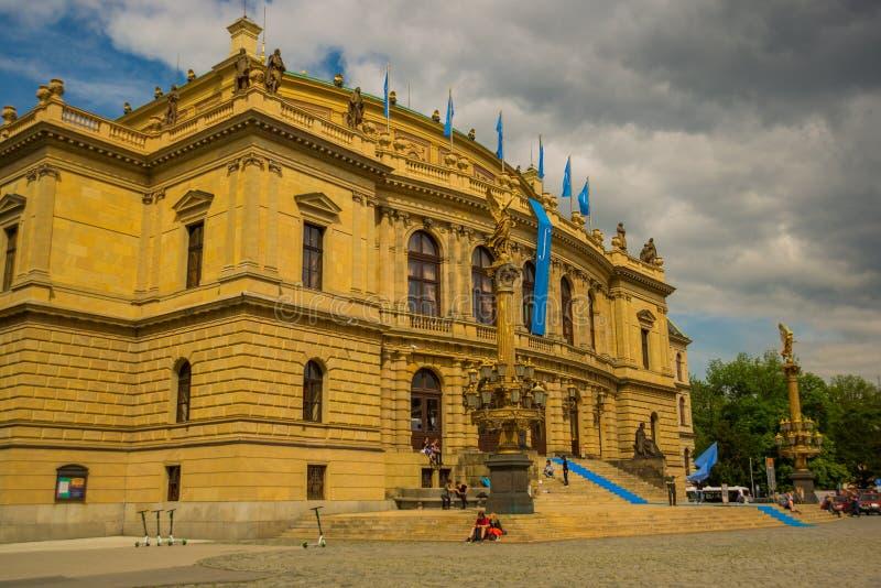 Prague, Czech Republic: View of the Rudolphinum concert hall in Prague stock images