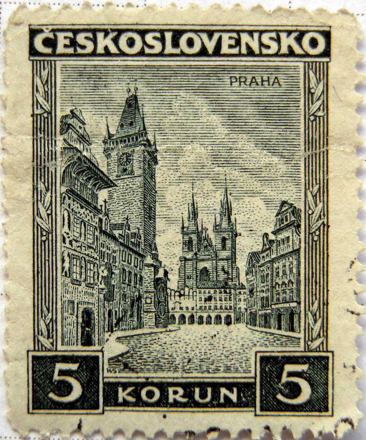 Download Prague Czech stamp stock image. Image of europe, czech - 7569971