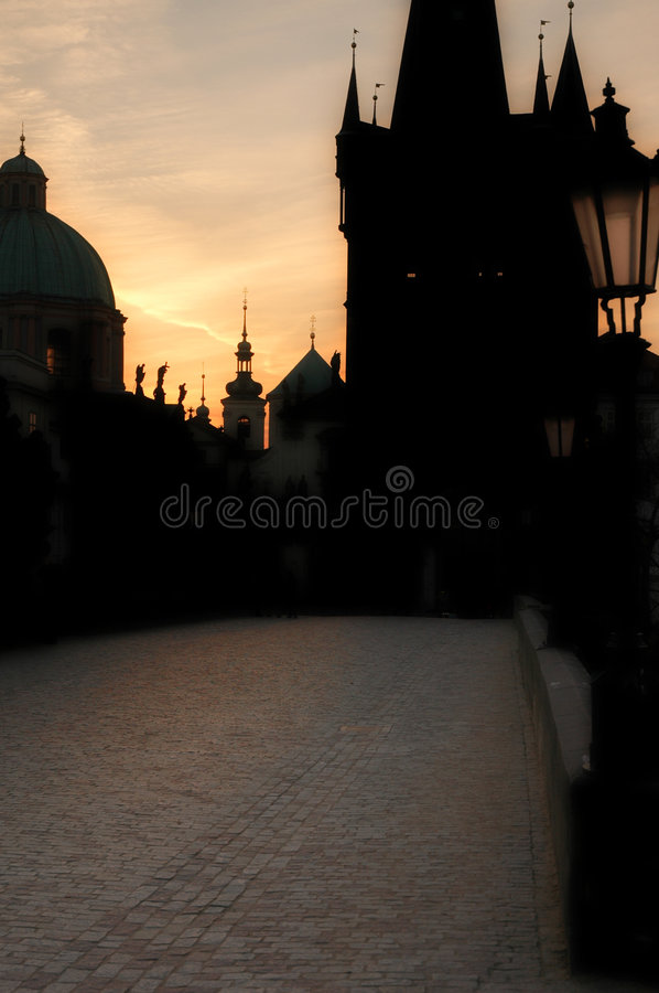 Download Prague Dawn stock photo. Image of figures, dream, statues - 766348