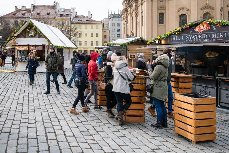 Prague Easter Markets on Old Town Square stock photo